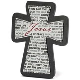 Names of Jesus Tabletop Cross