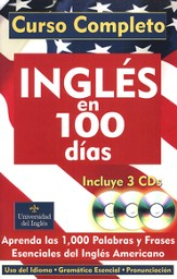Ingles en 100 Dias softcover with 3 Audio CDs