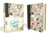 NIV Beautiful Word Bible--clothbound hardcover, purple floral