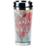 Love Never Fails Travel Mug