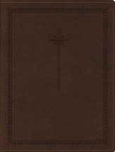 NIV Journal the Word Bible--soft leather-look, brown