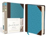 NIV Journal the Word Bible--soft leather-look, chocolate/turquoise