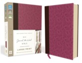 NIV Journal the Word Bible, Large Print, Imitation Leather, Pink/Brown