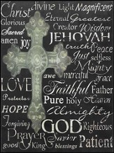 Names of Jesus Mounted Print