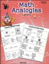 Math Analogies Level 4, Grades 8-9