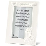 First Communion Photo Frame, White