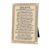 Believe, God Will Plaque