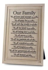 Our Family Plaque