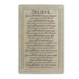 Believe Plaque, Large