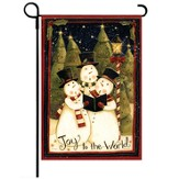 Joy to the World Snowmen Flag, Small
