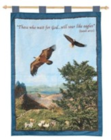 Eagle Tapestry Banner, Isaiah 40:31