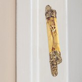 Brass and Olive Wood Mezuzah