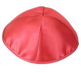 Red Satin Kippah