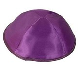 Purple Satin Kippah
