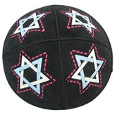 Star of David Leather Kippah