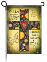 Believe and Pray Flag, Small