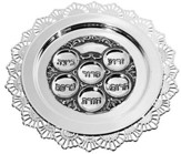 Passover Plate Pewter