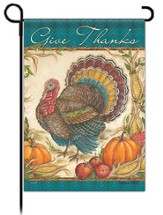 Give Thanks Garden Flag, Traditional Turkey