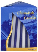 Blue and White Hanukkah Candles, 45