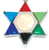 Mother of Pearl Multicolor Star of David