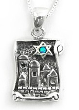 City of Jerusalm w/Star of David Necklace