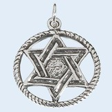 Star of David in Circle Necklace