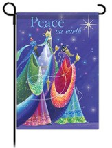 Peace on Earth Garden Flag, Three Kings Glitter