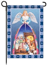 Nativity Angel, Garden Flag