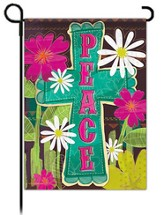 Peace Cross Flag, Garden Size