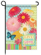 Live, Love, Laugh Flag, Garden Size