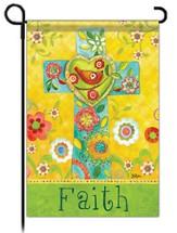 Faith Cross Flag, Garden Size