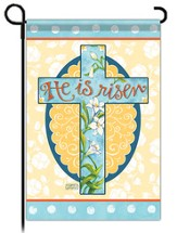 He Is Risen, Cross Flag, Garden Size