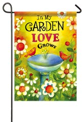 In My Garden Love Grows Flag, Small