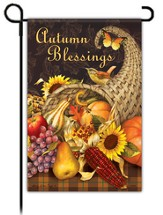 Autumn Blessings, Cornucopia Flag, Small
