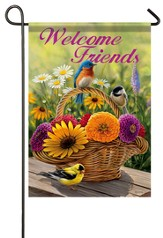 Welcome Friends, Birds Flag, Small