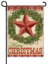 Rustic Christmas Flag, Small