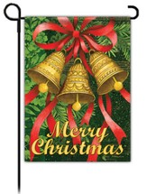 Merry Christmas, Holiday Bells Flag, Small