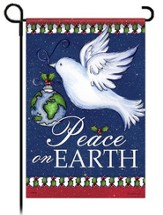 Peace on Earth Dove Flag, Small