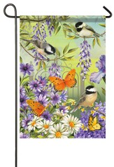 Chickadee Garden Flag, Small