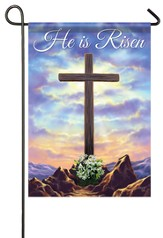 He Is Risen, Cross On the Hill Flag, Small