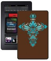 Cross Kindle Fire Case, Brown and Blue