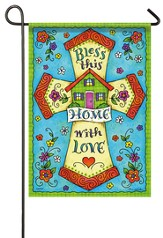Bless This Home With Love Flag, Small