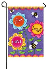 Live Laugh Love Flag, Small