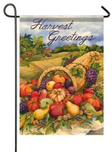 Harvest Greetings, Cornucopia Flag, Small