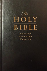 ESV Pew & Worship Bible, Hardcover, Black