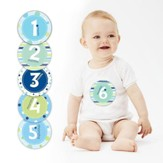Baby Milestone Stickers, Blue