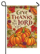 Give Thanks To the Lord Flag, Pumpkins, Small