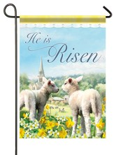 He Is Risen (lambs), Small Flag
