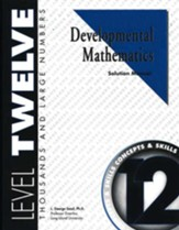 Developmental Math, Level 12, Solution Manual