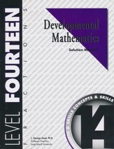 Developmental Math, Level 14, Solution Manual